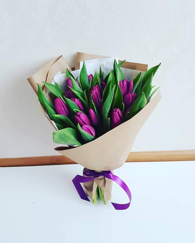 Violetinės tulpės 25 vnt