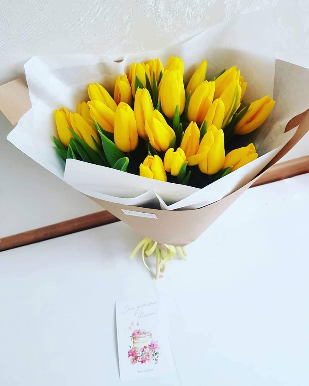 Geltonos tulpės / 35 vnt.