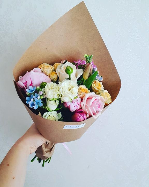 """Įvairių gėlių puokštė """"Vasara"""""""
