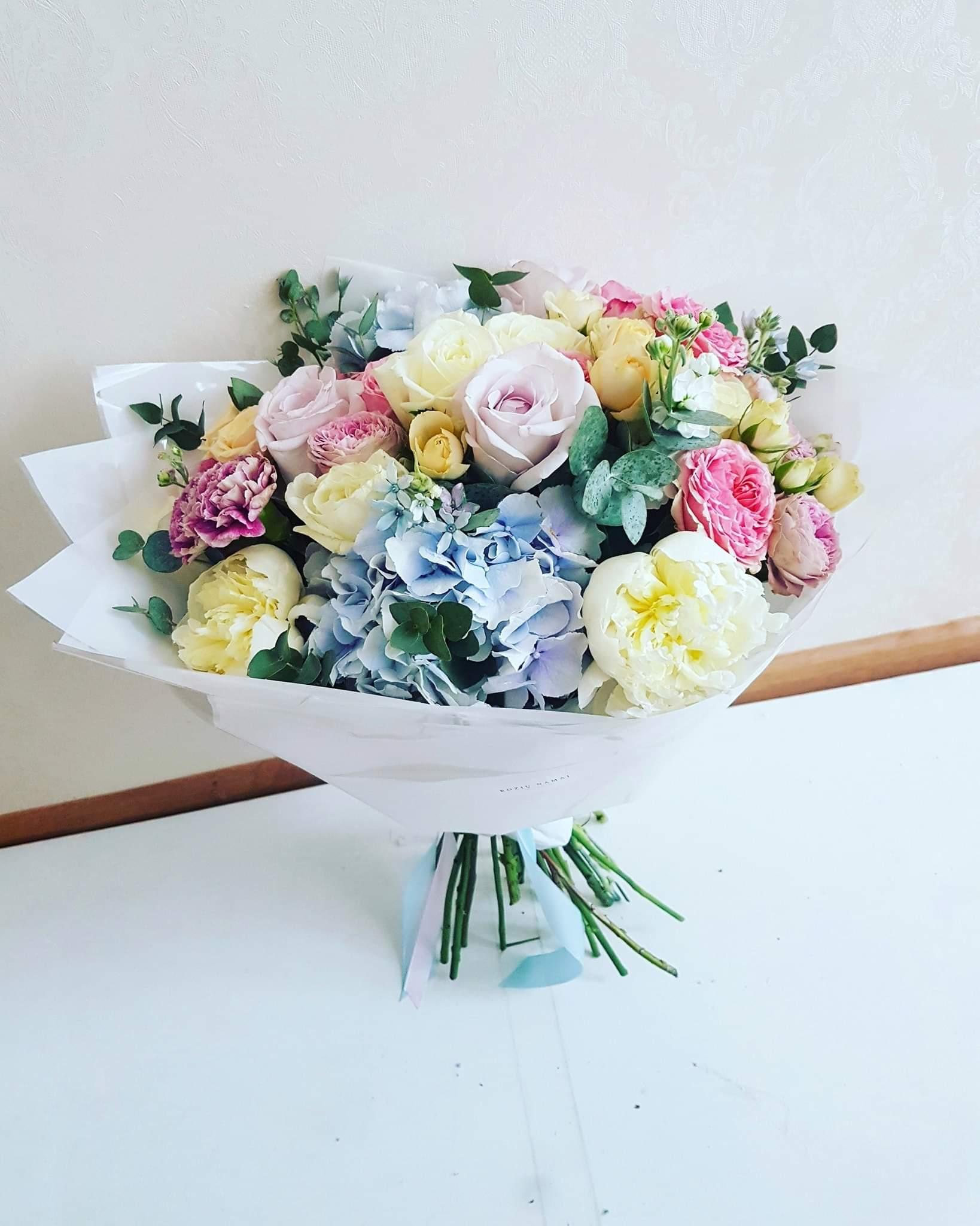 Įvairių gėlių puokštė / XL dydžio paveikslelis