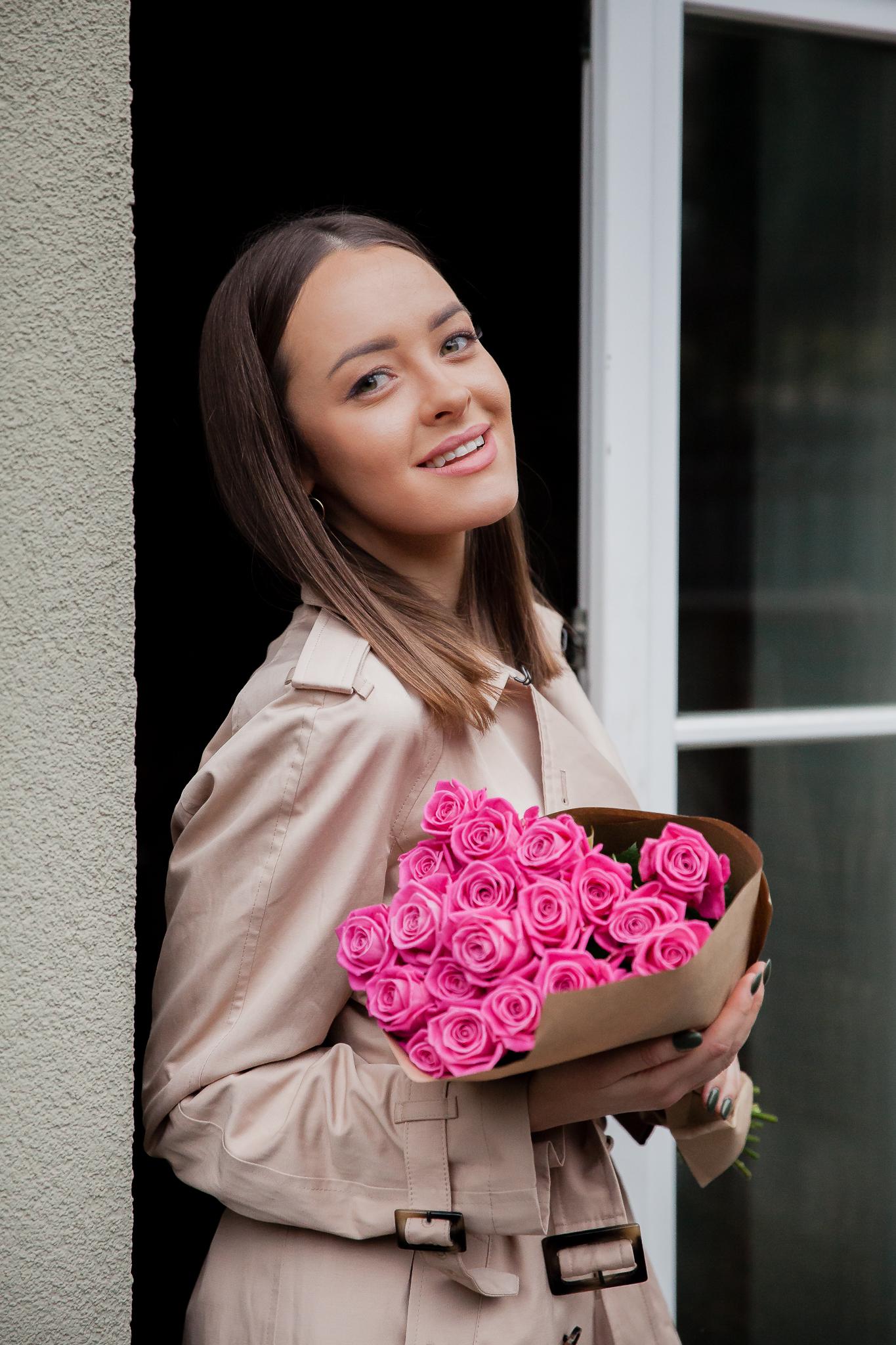 """Rožinės rožės / 19 vnt """"Aqua"""""""