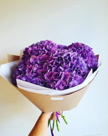 """Hortenzijos """"Violetinės"""" 5vnt. paveikslelis"""