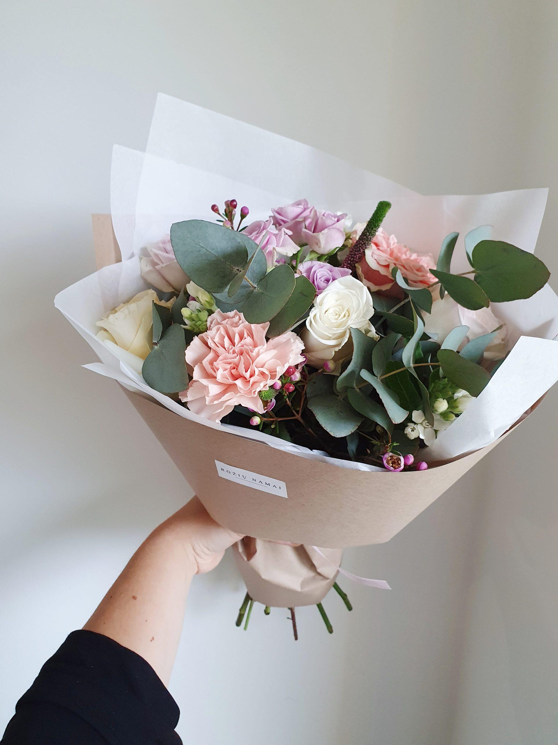 Įvairių gėlių puokštė/ XS dydis