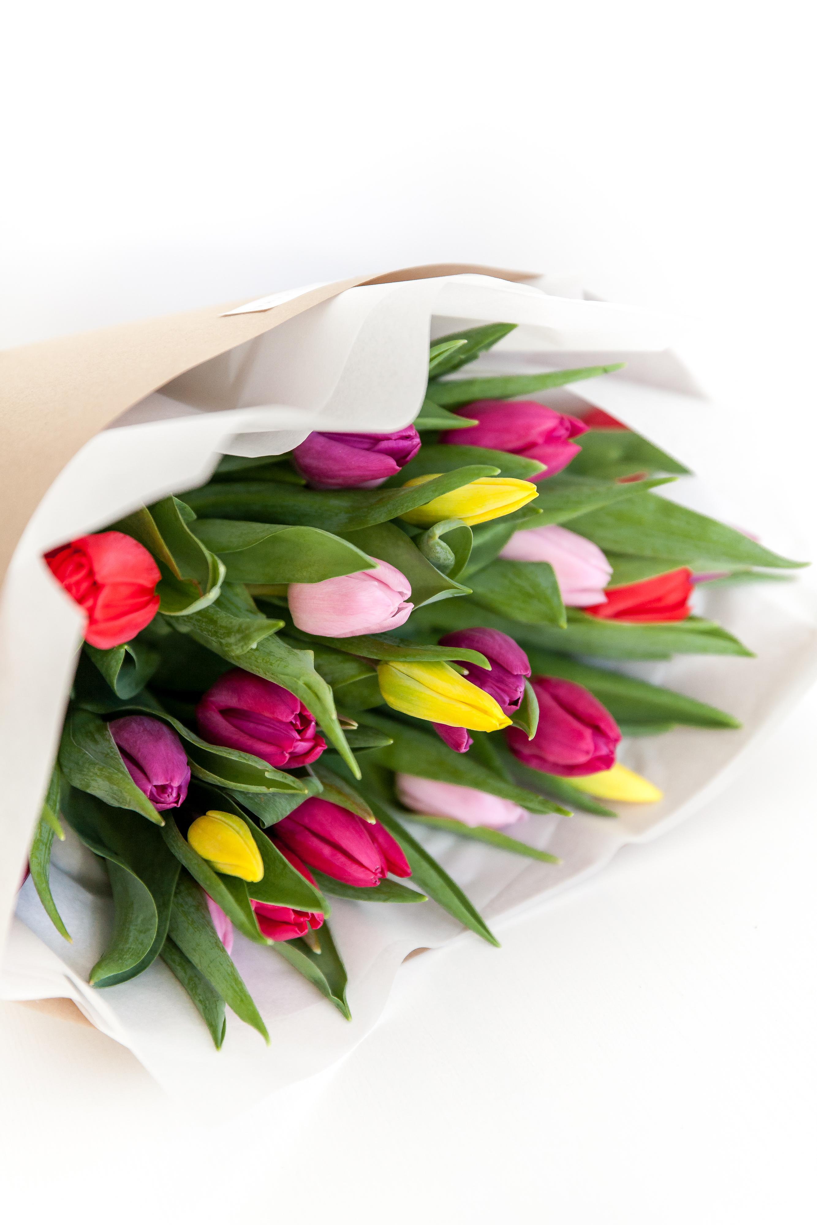 Įvairios tulpės
